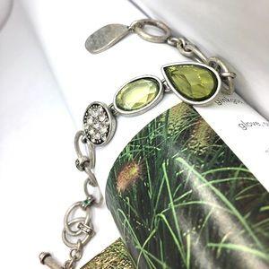 Lia sophia faceted olive crystals bracelet toggle